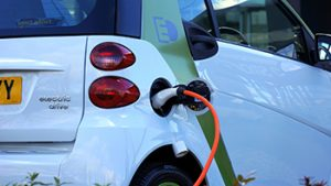 image of an electric vehicle charging up
